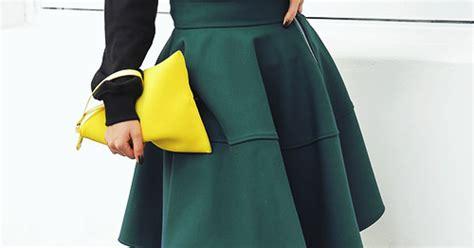 stylenanda side zippered flare skirt kstylick latest