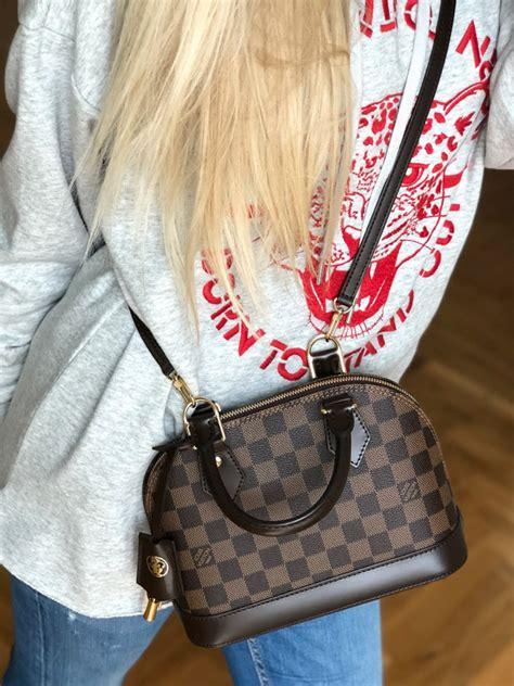louis vuitton alma bb damier ebene canvas luxury bags