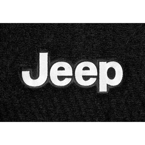 jeep front logo lloyd mats jw2f wrangler jk front floor mat carpeted black