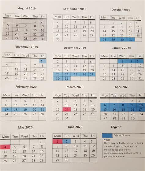school calendar scoil oilibheir