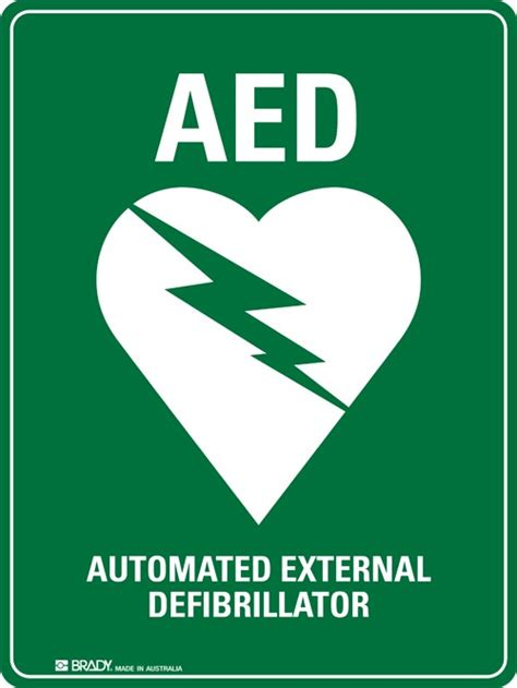 aed defib signs seton australia