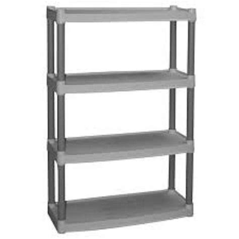 plastic shelving units plastic 4 shelf storage unit home garage shelving organizer rack shelves shop ebay