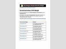 schoolvakanties 2019 belgie exacte datums op kalender
