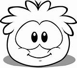 Coloring Pages Penguin Club Puffle Printable Puffles sketch template