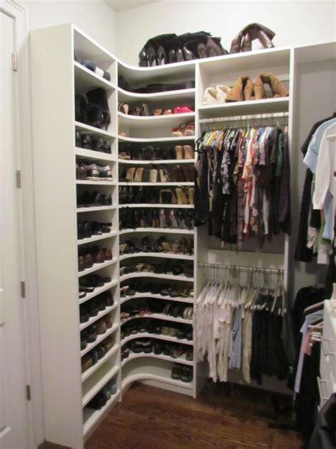 atlanta closet corner shoe shelves 02 contemporary