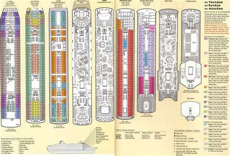 America Line Veendam Deck Plan by C2k Cruise 2000 Plans