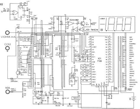 Multimeter Schematic Diagram Sendb