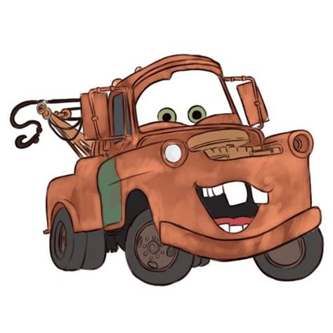 cars characters drawings draw mater from cars cars drawings and sketches