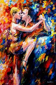 Leonid Afremov TANGO OF LOVE painting anysize 50% off