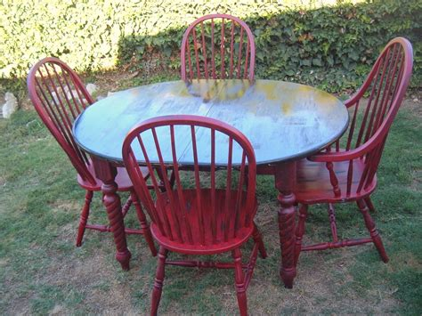 black table red chairs spanky luvs vintage red and black table and chairs diy