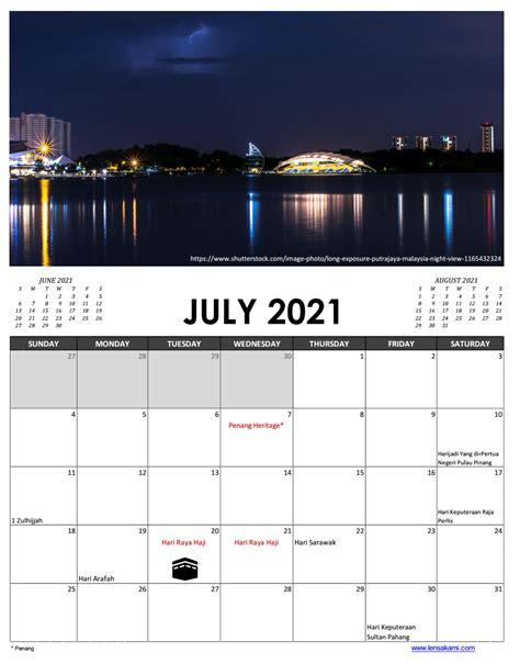 23+ Printable Calendar 2021 Malaysia  Pictures