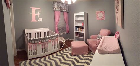 pink and grey elephant nursery project nursery