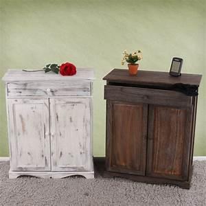 Schrank Vintage Look : kommode schrank 78x66x33cm shabby look vintage wei ~ Bigdaddyawards.com Haus und Dekorationen