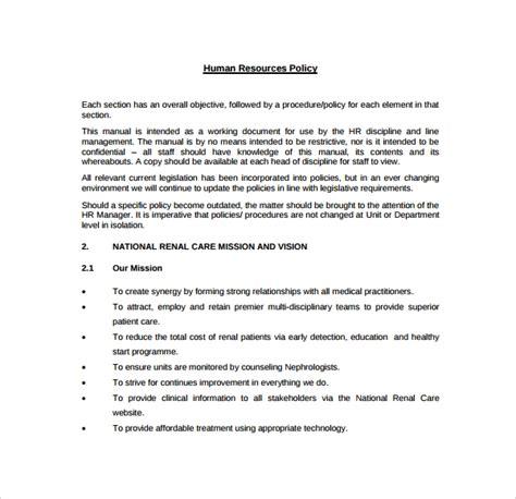hr manual templates   sample templates