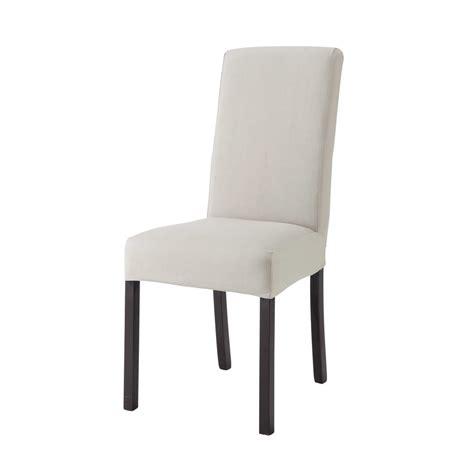 chaise gris clair housse de chaise en coton gris clair margaux maisons du