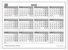 Kalender 2019, Nederland Michel Zbinden NL