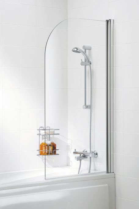 Mirror Curved Bath Screen  Bath Screens  Lakes Bathrooms