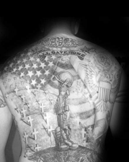 50 Fallen Soldier Tattoo Designs For Men - Memorial Ideas