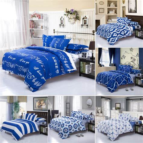 blue and white striped bedding sets modern simple white