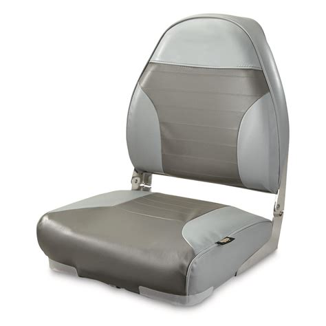 Back To Back Boat Seats For Sale Canada by Guide Gear High Back Folding Boat Seat 217024 Fold Down