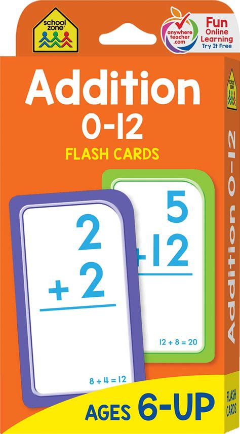 Addition Flash Cards  Math Flash Cards By School Zone  Raff And Friends