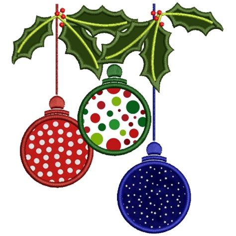 Machine Applique Designs by Tree Ornaments Applique Machine Embroidery