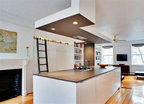 plafond de cuisine design rénover et décorer avec des faux plafonds habitatpresto