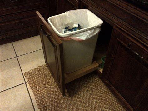 under sink garbage pull out under sink trash pull out kitchen design pinterest