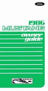 1986 Ford Mustang Owners Manual User Guide Reference