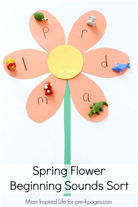 beginning sounds activity pre k pages 734 | Spring Flower Beginning Sounds Sort Activity pin