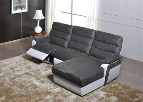 canapé basika canape d 39 angle droit relax electrique biaritz blanc