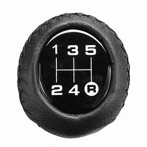 Universal 5 Speed Car Leather Shift Knob Manual Gear Stick