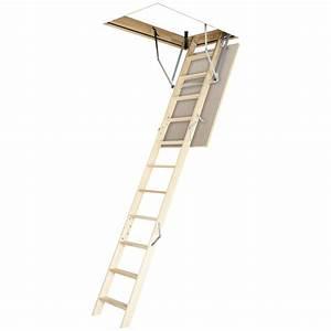 Escalier Escamotable Grenier : escalier de grenier ols optistep 130x60 cm escalier de ~ Melissatoandfro.com Idées de Décoration
