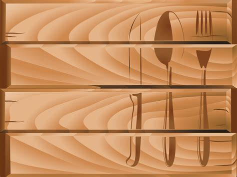 kitchen forks and knives restaurant menu theme powerpoint templates food drink