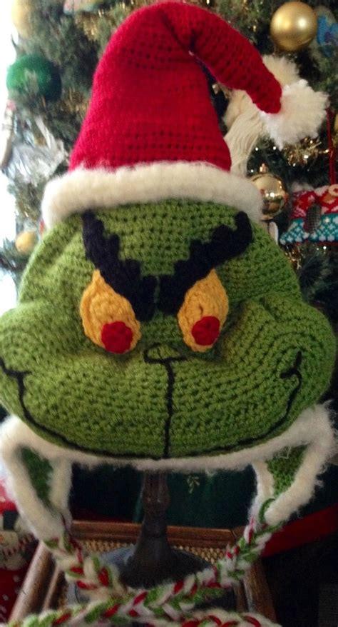 grinch christmas hat  creationscyn  etsy crochet