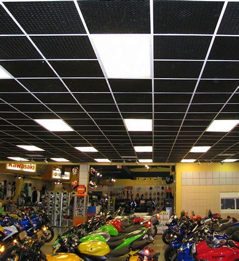 black ceiling tile car interior design