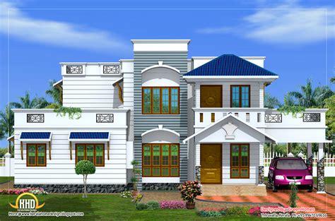 duplex house elevation  sq ft kerala home design