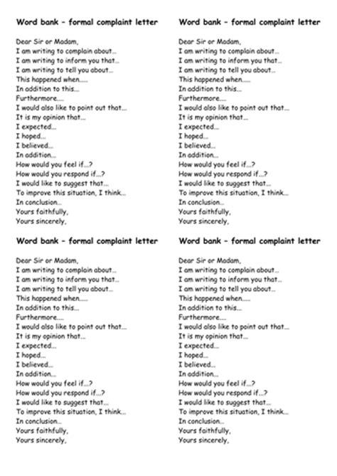 formal letter  complaint  fairykitty teaching