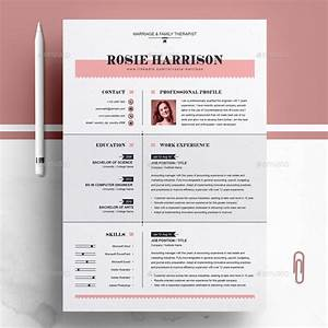 Cv Template For Professionals Modern Resume Ms Word Apple Pages Cv Template By