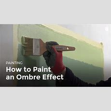 How To Paint A Room Ombre Effect  Household Diy Projects