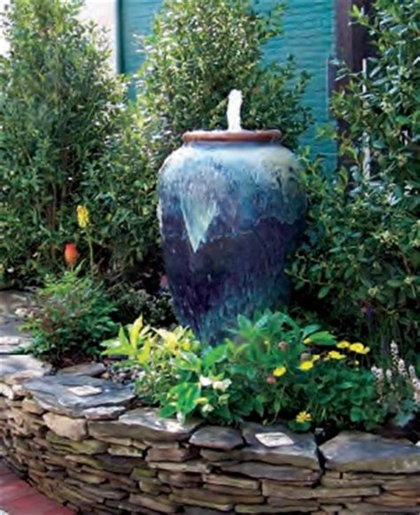 large  cheap outdoor garden water fountains  lights