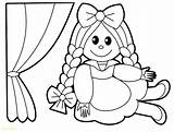 Doll Coloring Rag Printable Inspiration Getcolorings Col sketch template