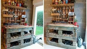Fauteuil En Palette Facile : meuble cuisine en palette youtube ~ Melissatoandfro.com Idées de Décoration