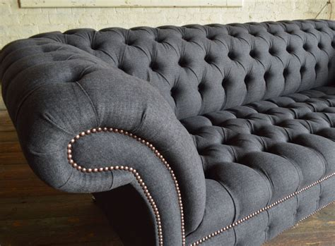 grey leather chesterfield sofa grey leather chesterfield sofa modern tov furniture