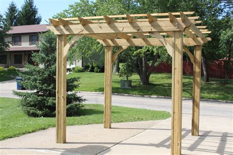 corner arbor plans  woodworking project