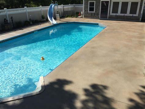 Pool Deck Staining in East Hartford, CT   Diamond Kote
