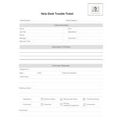 Timeline Sheet Template Help Desk Trouble Ticket