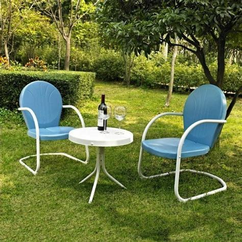 Lawn Table And Chairs by Metal Patio Table And Chairs Retro Lawn Furniture Outdoor
