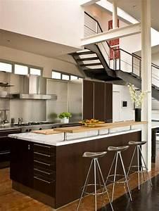 petite cuisine ouverte la rendre encore plus belle et With petite cuisine ouverte design