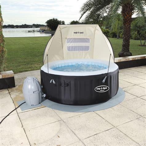 spa lay canopy tub bestway miami accessories filter paris vegas detachable shelter monaco rain ps wind spares protector floor pool
